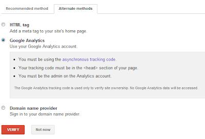 verifikasi google analytics
