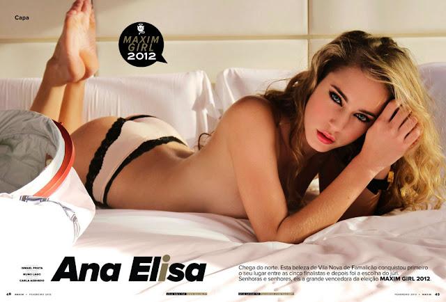 Fotos de Ana Elisa nua na Maxim de Fevereiro 2013