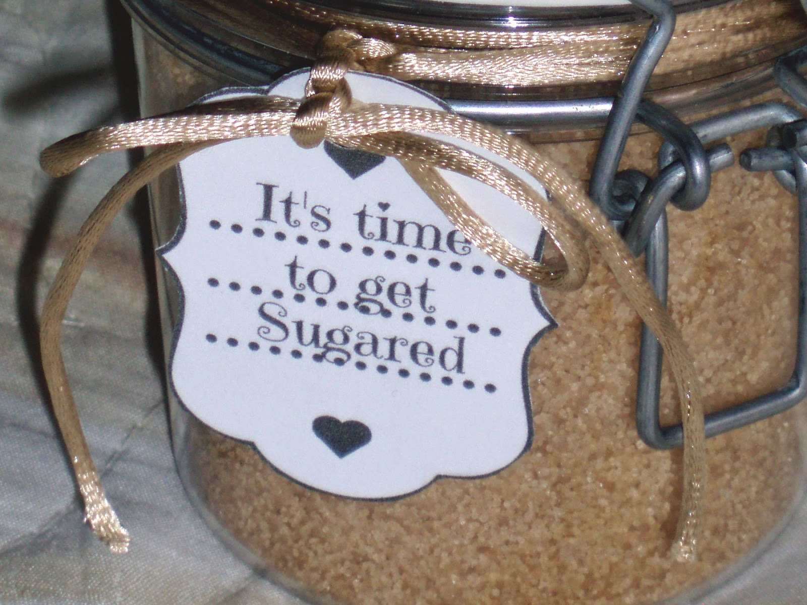 Diy coconut sugar scrub label