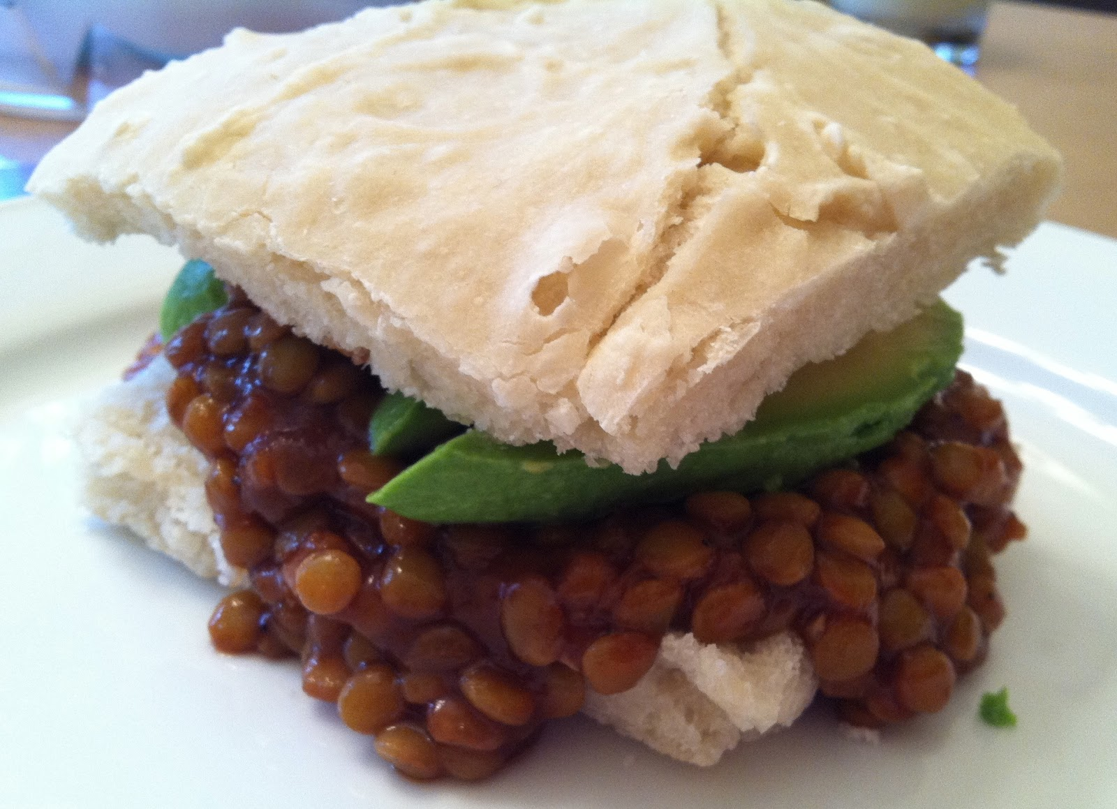 words & whisks: BBQ Lentils... AKA (Vegetarian) BBQ Sandwich
