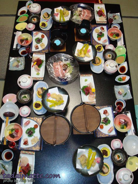 Dinner at Japanese-style inn, ryokan