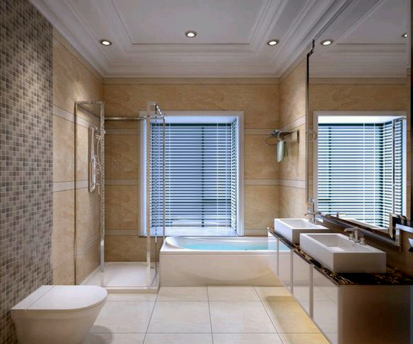 Modern bathrooms best designs ideas new home designs for Photos of contemporary bathrooms