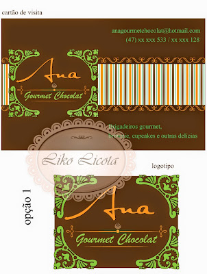 chocolate gourmet logotipo