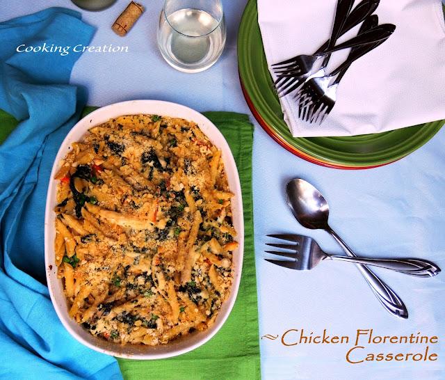 Cooking Creation: Chicken Florentine Casserole