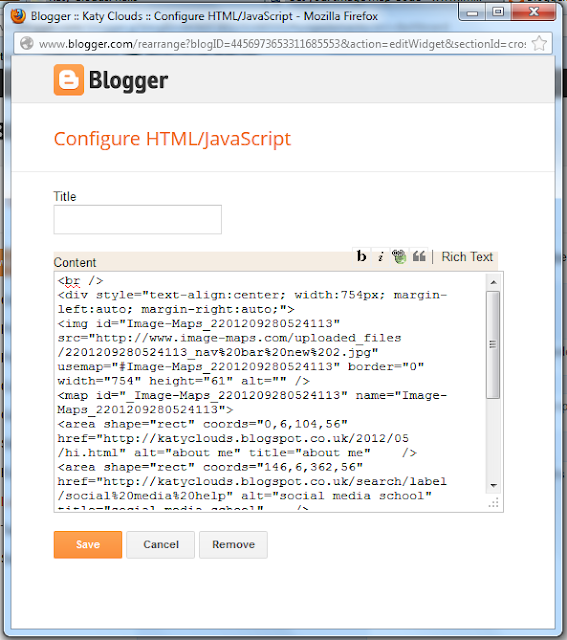 questions trying make image into link javascript gadget blogger