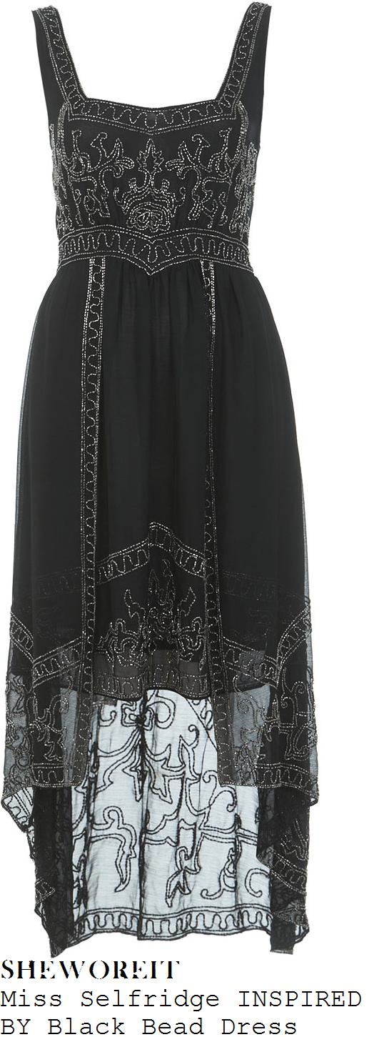 millie-mackintosh-black-bead-embellished-sleeveless-dipped-hem-dress