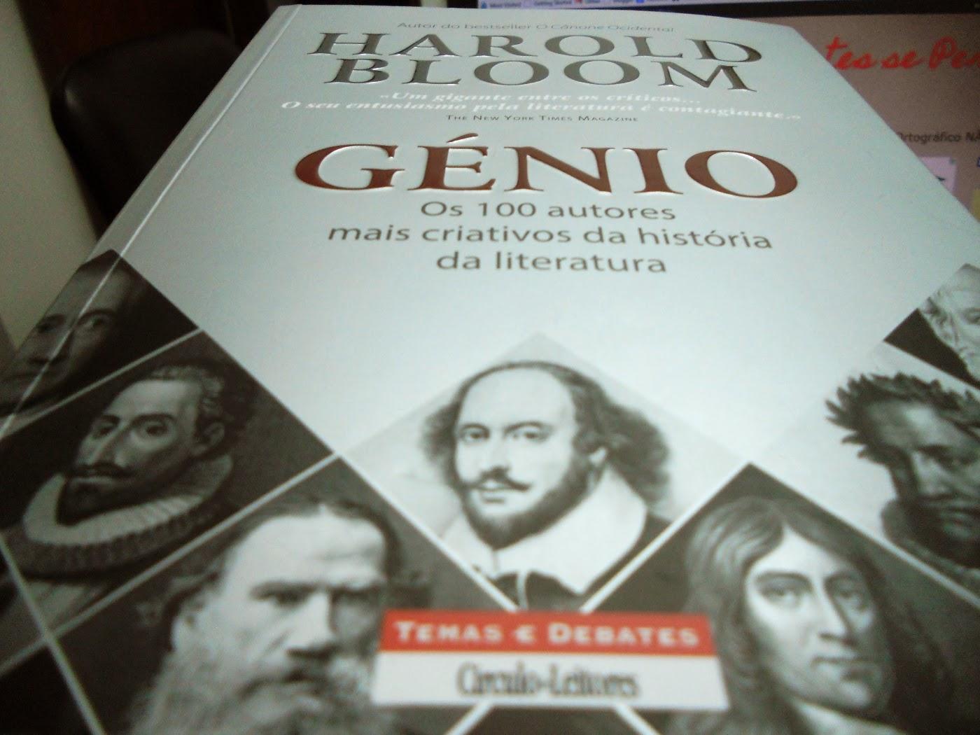 Génio, Harold Bloom, Os 100 autores mais criativos da história da literatura