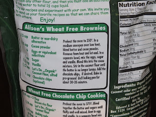 Allison's Wheat Free Brownie Recipe