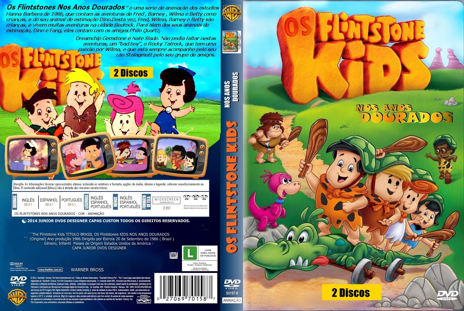 Filme Os Flintstones throughout junior dvds : capa do dvd os flintstones nos anos dourados (pedido