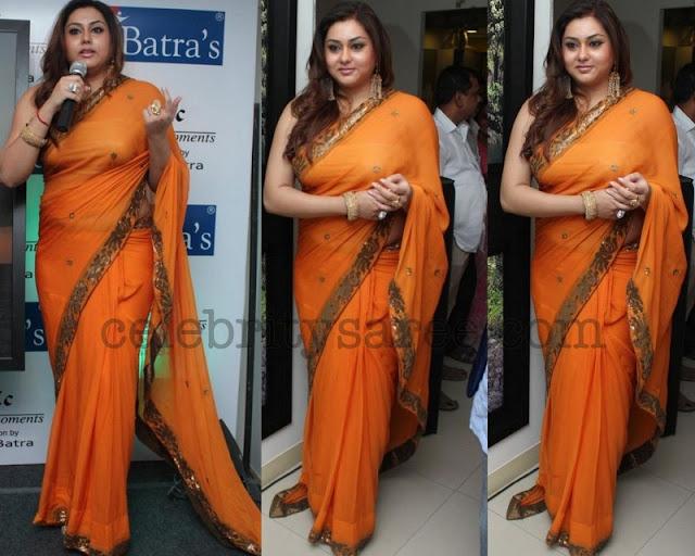 Namitha Orange Saree