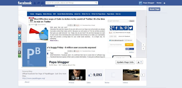 PapaBlogger Facebook Fan Page