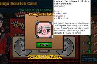 Trick Scratch Card Get EMBLEM + TOKEN Ninja Saga