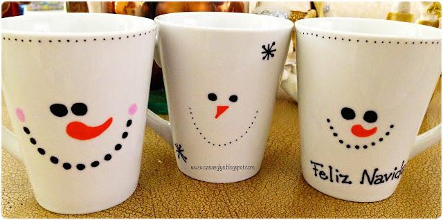DIY tazas muñecos de nieve