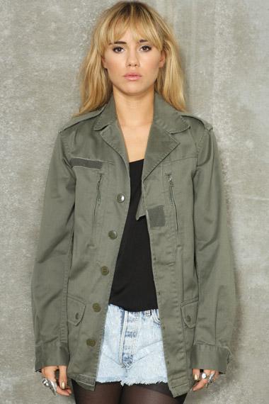 Veste militaire femme mode