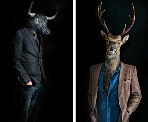 06-Bull-and-Deer-Miguel-Vallinas-Segundas-Pieles-Second-Skins-Smartly-Dressed-Animals-www-designstack-co