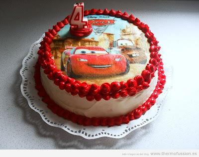 Tarta Cars Rayo McQueen
