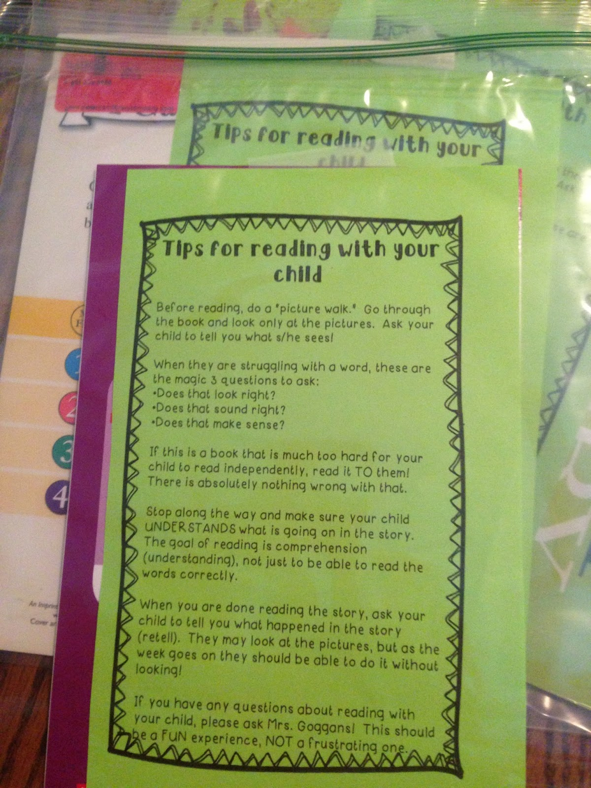 First grade pizzazz take home book bags publicscrutiny Gallery