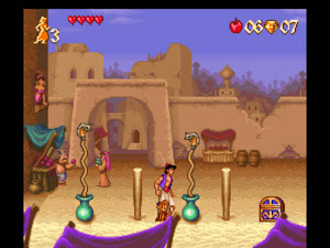 Screen Shot Of Aladdin And Lion King (1993/94) Full PC Game Free Download At Downloadingzoo.Com