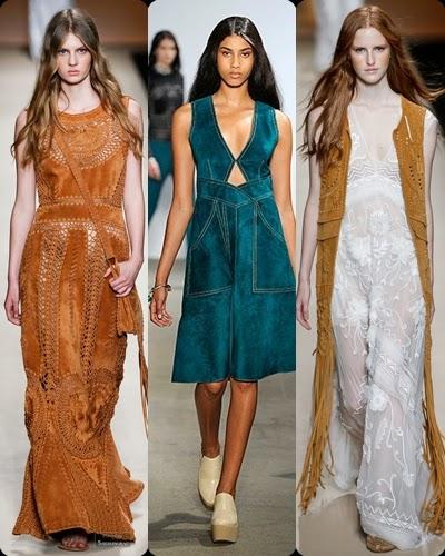 Vestidos e coletes compridos em camurça - tendencia primavera-verão 2015