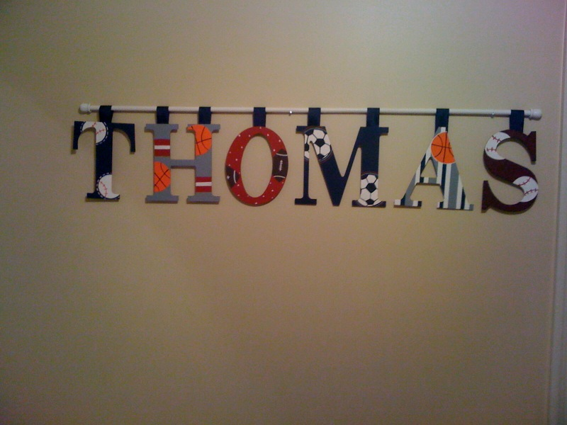 Hanging Wall Letters Simple Kidspired Creations How To How To Hang Wall Letters. Design Inspiration