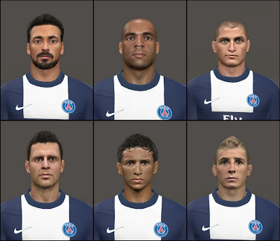 PES 2014 Facepack PSG v0.2 By Tunizizou