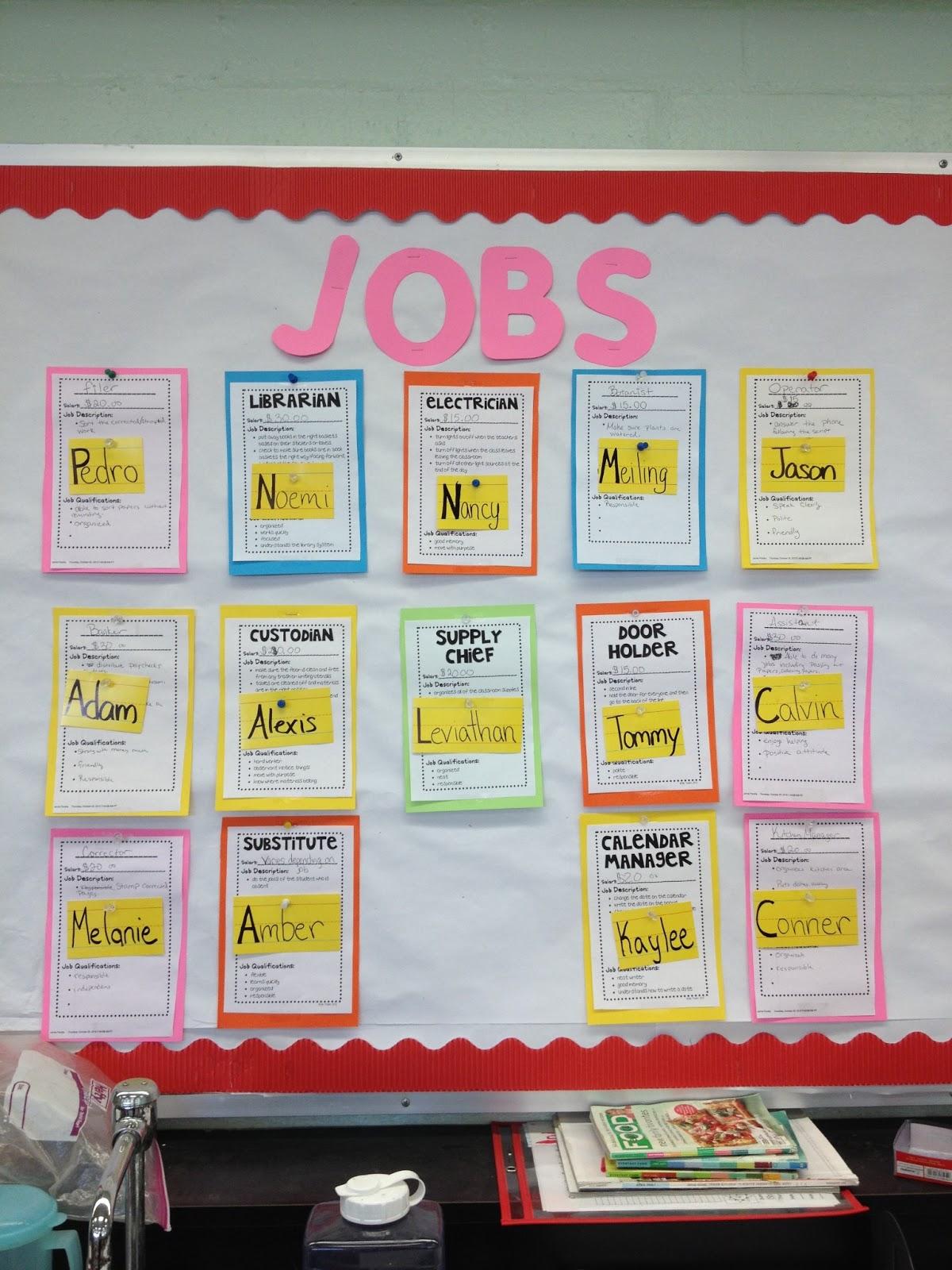 Classroom Job Ideas Middle School ~ Life skills in high school classroom tour