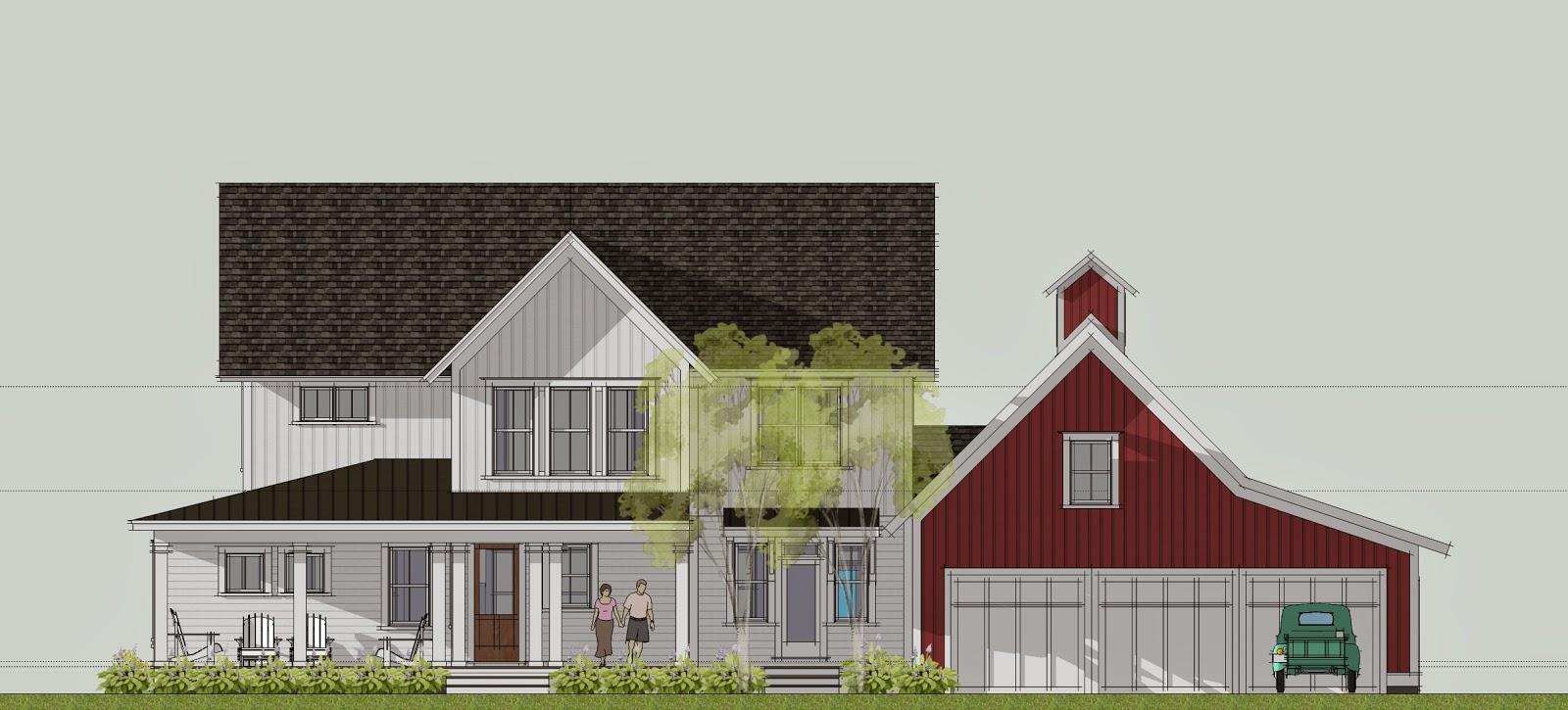 Simply Elegant Home Designs Blog: New Modern Farmhouse by Ron ...