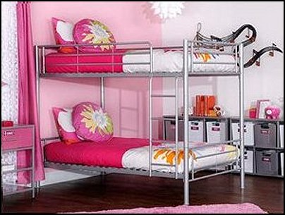 Decorating theme bedrooms maries manor shared bedrooms for Girls bedroom decorating ideas with bunk beds