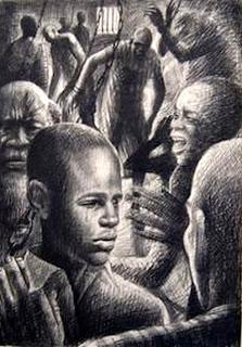 Illustration by J. Biggers for Lorenz Graham's 1966 book I, Momolu