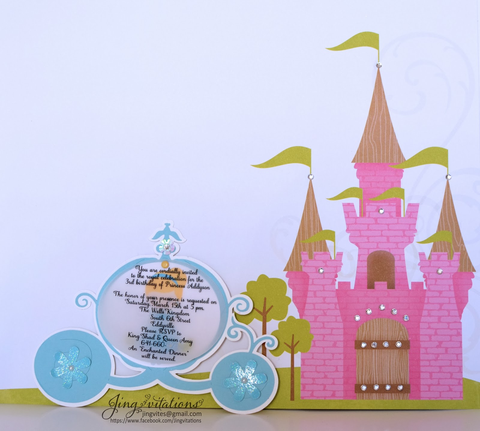 disney princess cinderella invitations
