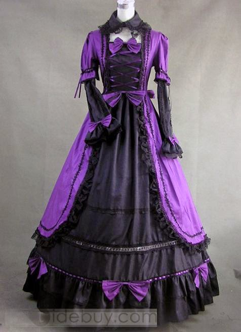 http://www.tidebuy.com/product/Purple-And-Black-Gothic-Victorian-Dress-With-Lace-Decoration-10417780.html