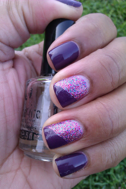 Julep, Gayle, Rockstar Pink, purple, glitter, french tip, frenchie, funly french, nail art, design, mani