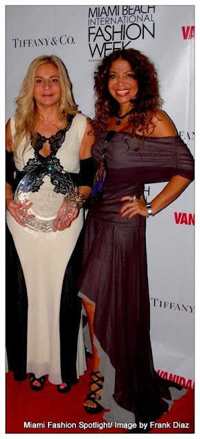 Viviana Gabeiras and Lissette Rondon at MBIFW 2012 at the Miami beach Convention Center.