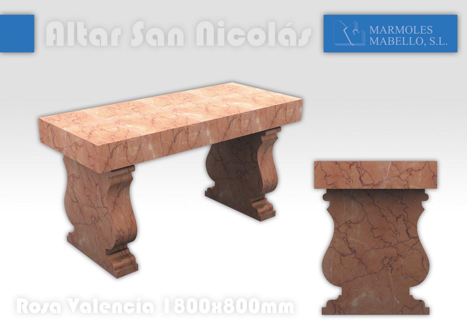 M rmoles mabello altar mayor iglesa de san nicol s - Marmoles valencia ...
