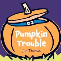 bookcover of Pumpkin Trouble by Jan Thomas