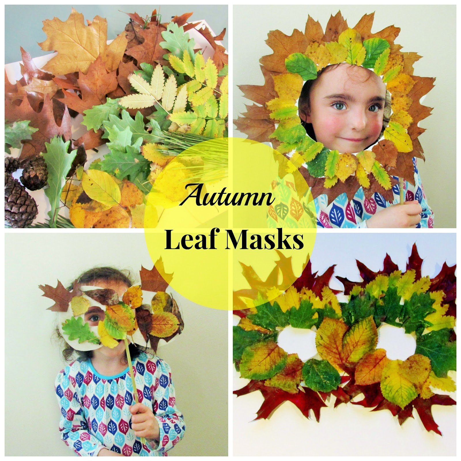 Nature Walk: Autumn Leaf Masks