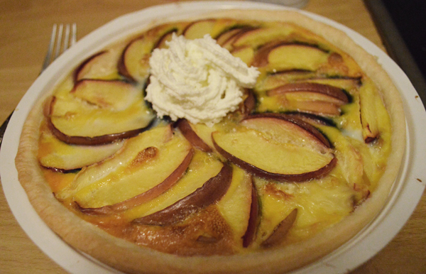 honey & nectarine pie