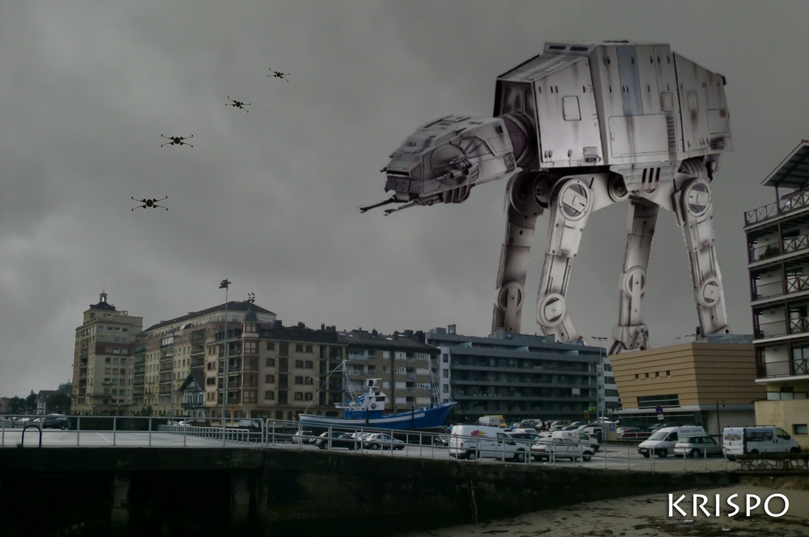 fotomontaje de Star Wars en Hondarribia