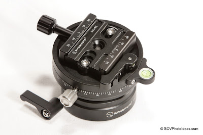 Sunwayfoto DLC-60L Duo QR Clamp on DYH-90R Leveling base