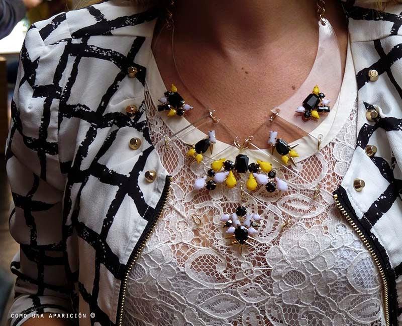 como-una-aparición-acrylic-necklace-ziper-white-jacket-black-yellow-lace-fashion-women-accesories
