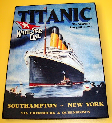 that's the way the cookie crumbles, titanic, white star line, unsinkable, wall art, southampton, new york, 1912, cherbourg, queenstown, cobh,