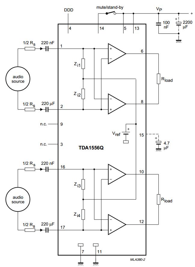 Wiring  U0026 Diagram Info  Tda1556q 2 X 22 W Stereo Btl
