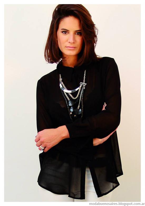 Moda invierno 2014 Marcela Pagella blusas.