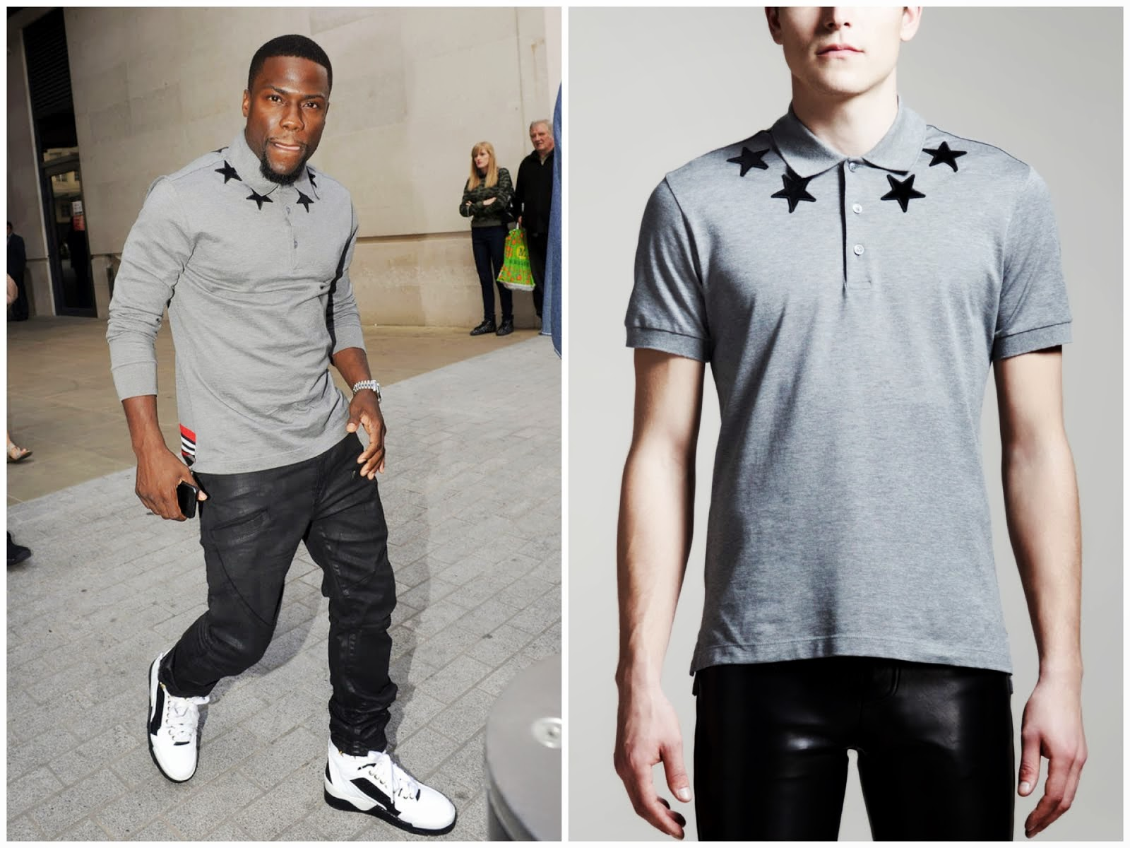 00O00 Menswear Blog: Kevin Hart in Givenchy - BBC Radio One Studios in London August 2013