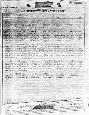 Air Intelligence Relatório de Informações Re UFOs sobre Long Beach & Muroc, Califórnia & Post Pursuit (pg 2) 1951/09/23