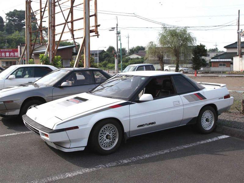 Subaru XT, turbo, AWD, sportowy, napęd na cztery koła, dawne samochody, klasyczne auta, japońska motoryzacja, スバル