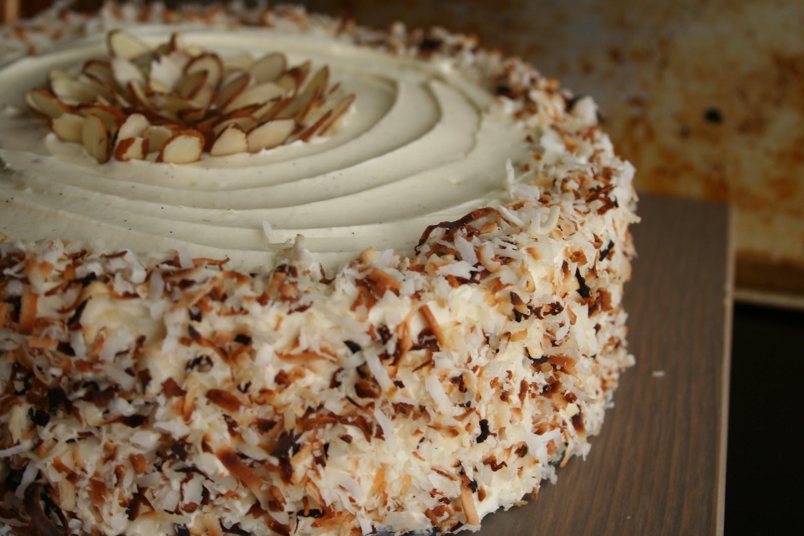 Full Life: Vanilla Almond Coconut Cake