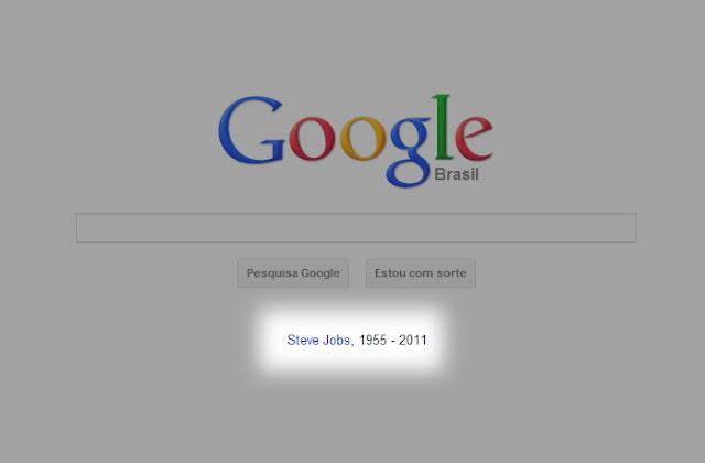 Google em Luto por Steve Jobs