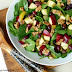 Warm Spinach Salad with Sweet Vanilla Bean Vinaigrette