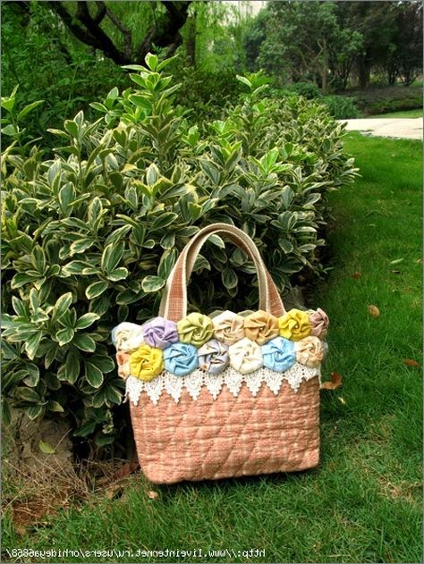 Summer Bag with Flowers. DIY tutorial